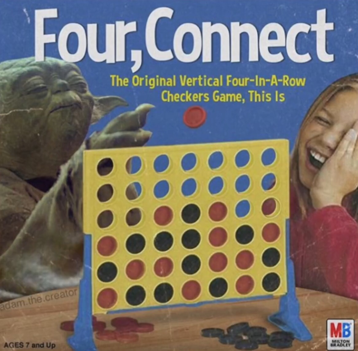 Four connect, you must. - meme