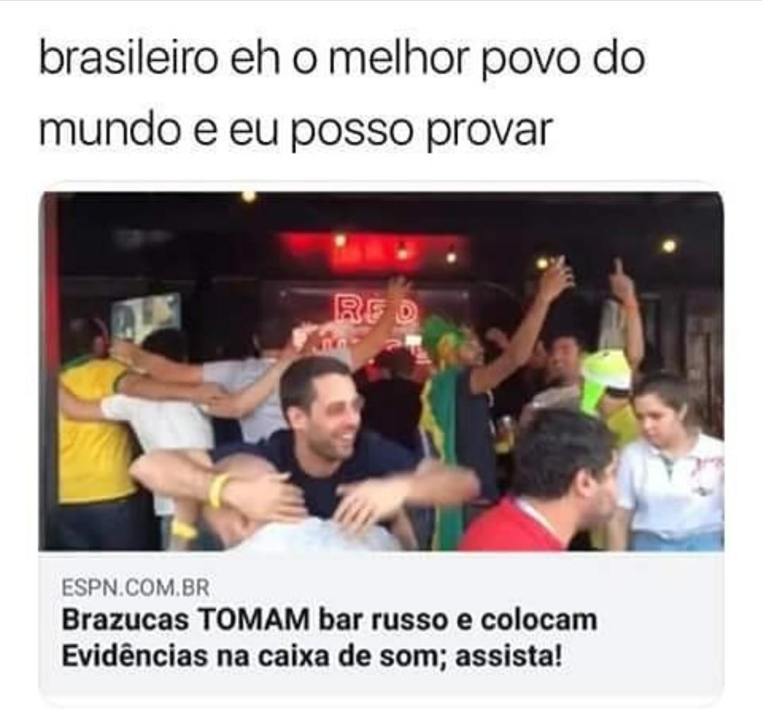 brasileiro fazendo brasilice. Kkkk - meme