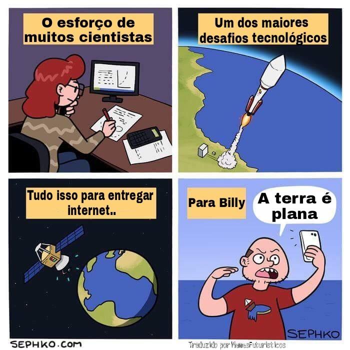 Terra plana para Billy - meme