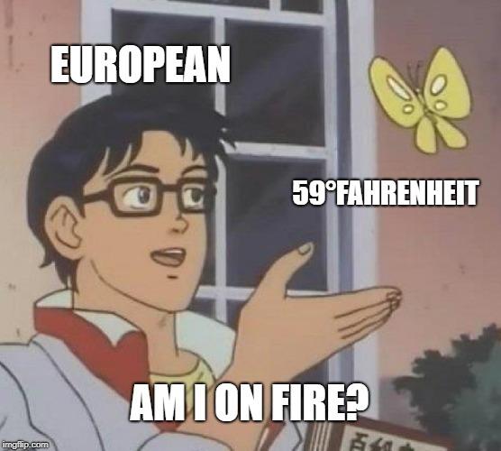 Europeans don't understand Fahrenheit - meme