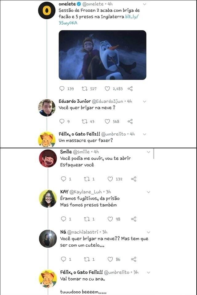 o título foi brincar na neve - meme