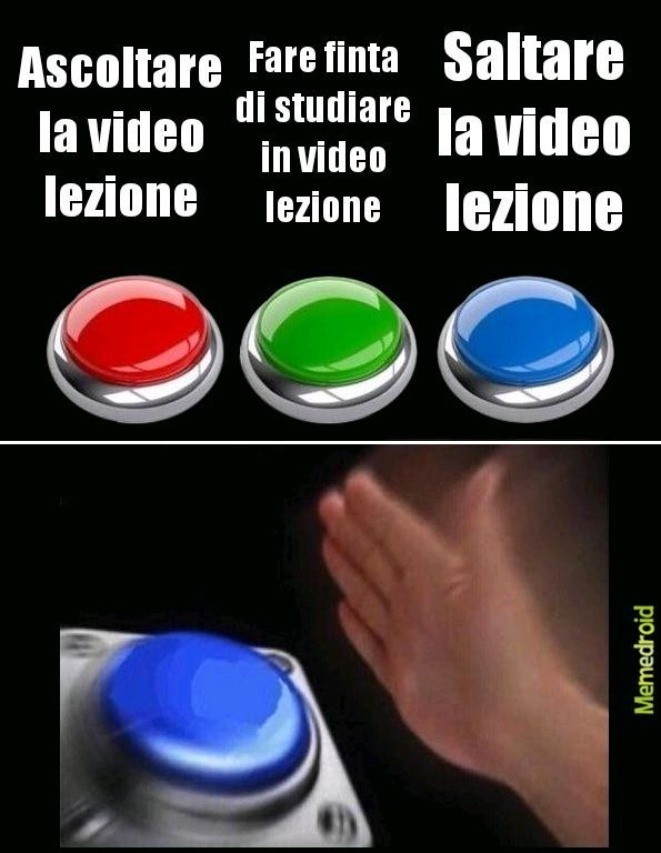 Cosa fare in video lezione - meme