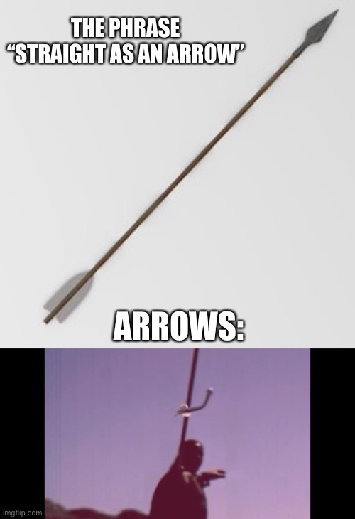 Arrows are gay I guess. - meme