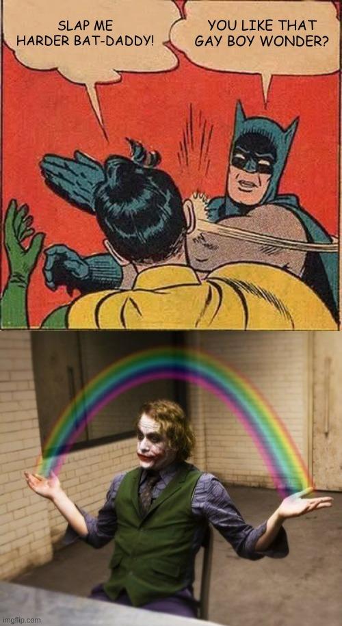 Bat-Daddy And Gay-Boy Wonder - meme