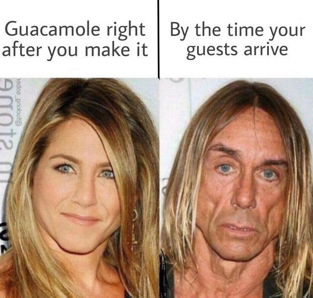 Jennifer Aniston and Iggy Pop - meme