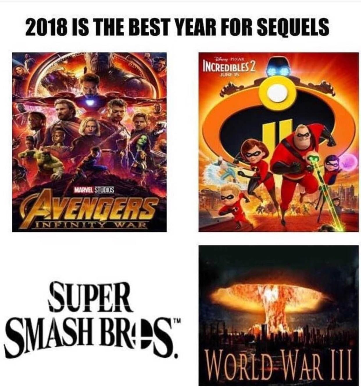 Sequels coming in 2018 - meme