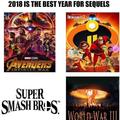 Sequels coming in 2018