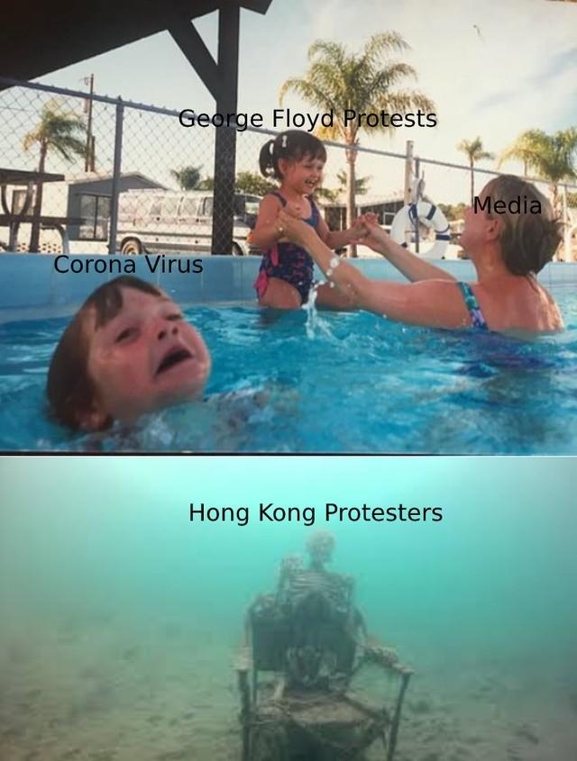 Ya ignoraron las protestas de Hong Kong - meme