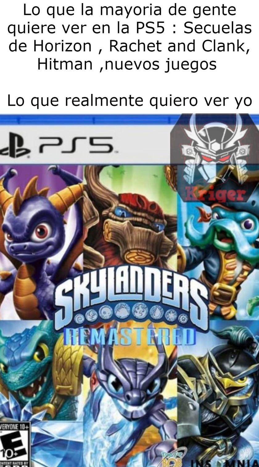 Soñar es gratis.  Skylanders fue una gran parte de mi infancia , y seria muy bonito que este fan art fuese realidad. - meme