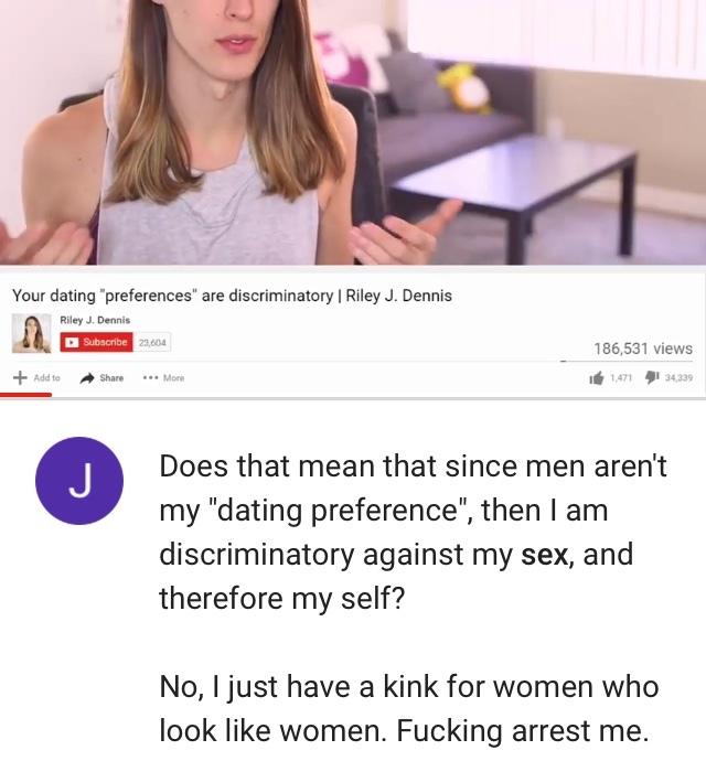 Second comment is Riley J Dennis - meme