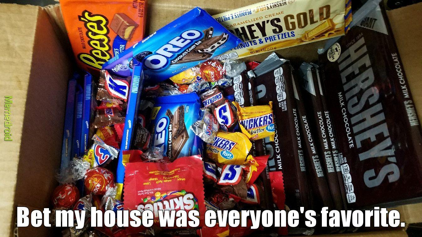 Giant sized candy bars - meme
