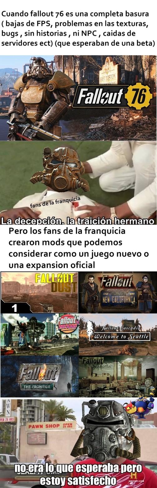 el titulo se fue a jugar fallout 3 - meme