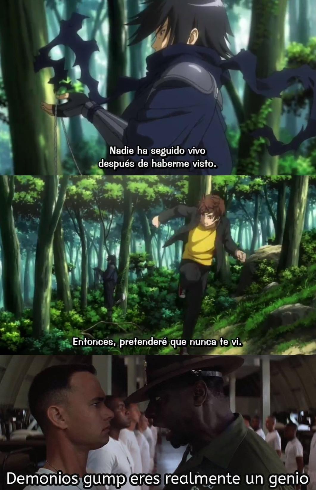 Top 10 Respuestas del Anime - meme