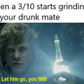 *drops drunk mate on floor*