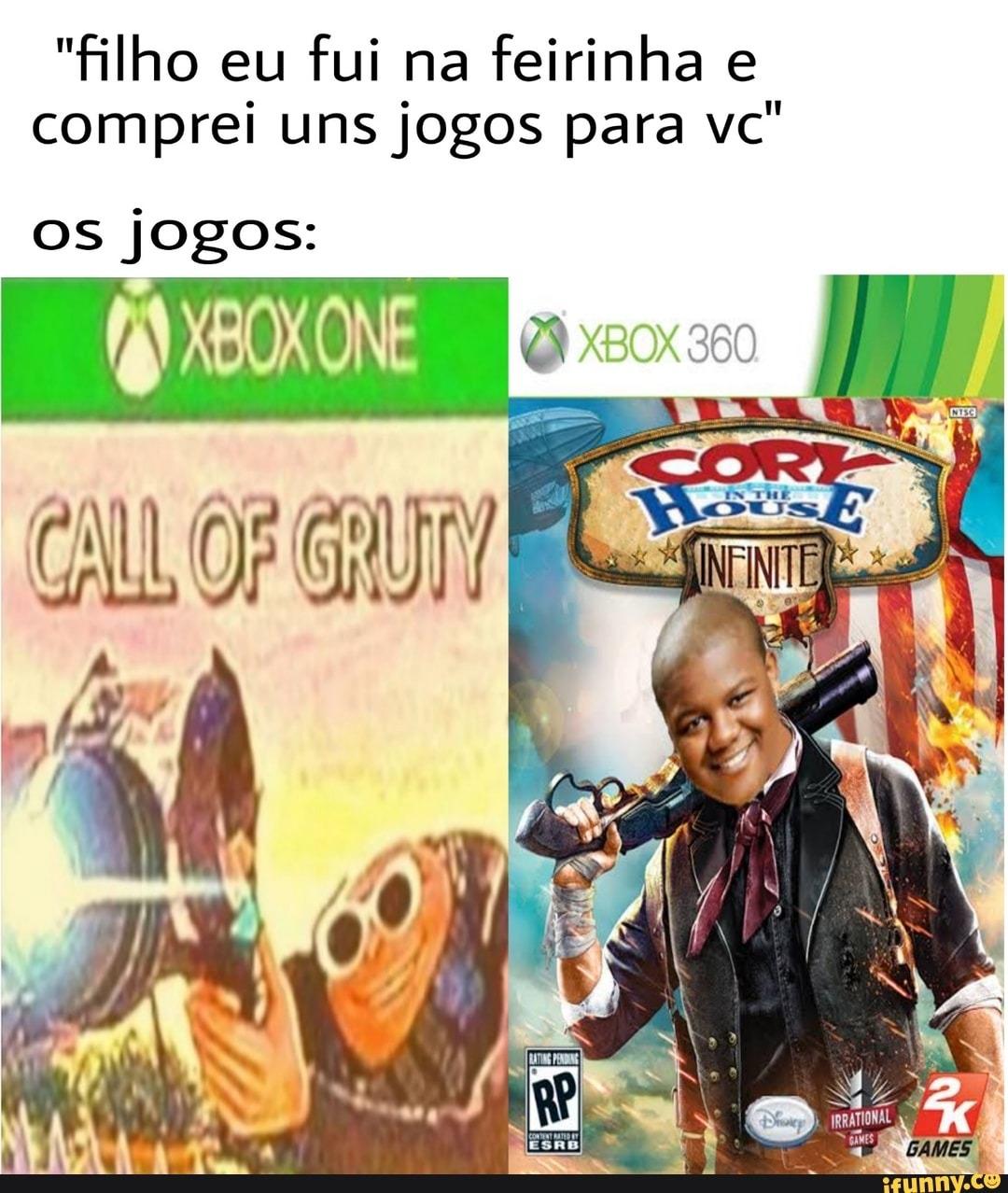 3 por 10, jogos originais - meme