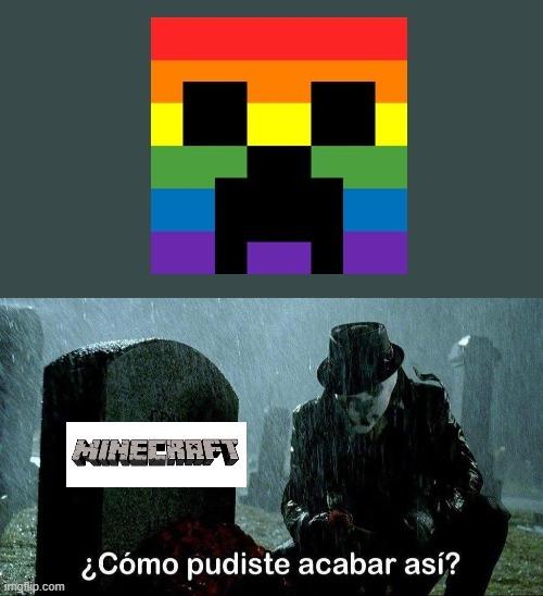 Minecraft nooooo - meme