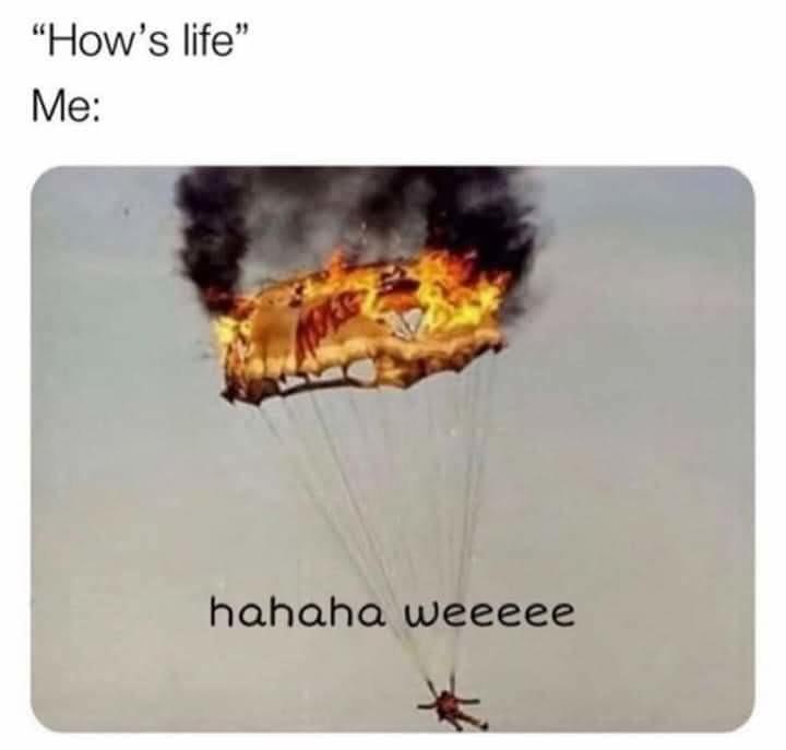 Slowly dying - meme