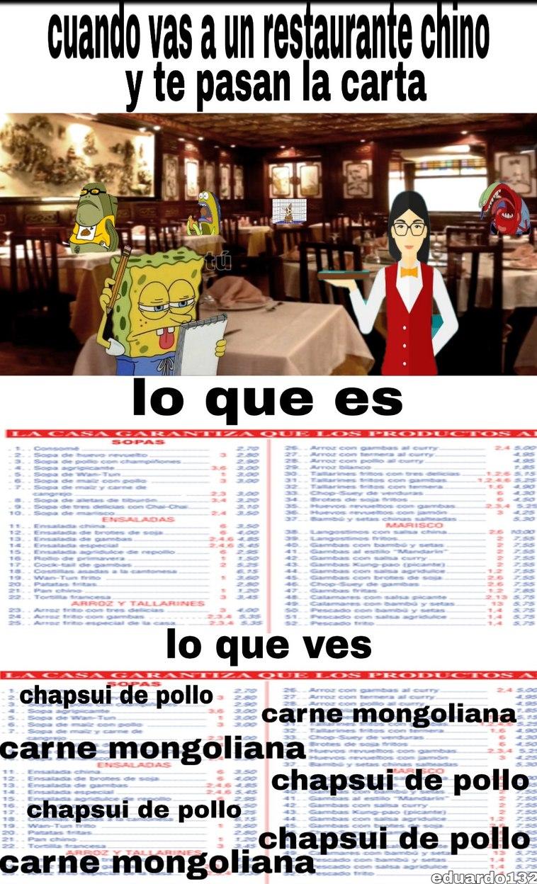 Restaurante chino - meme
