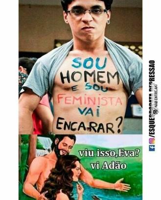 homem com H minusculo feministo - meme