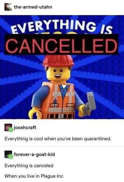 Everything is canceled... - meme