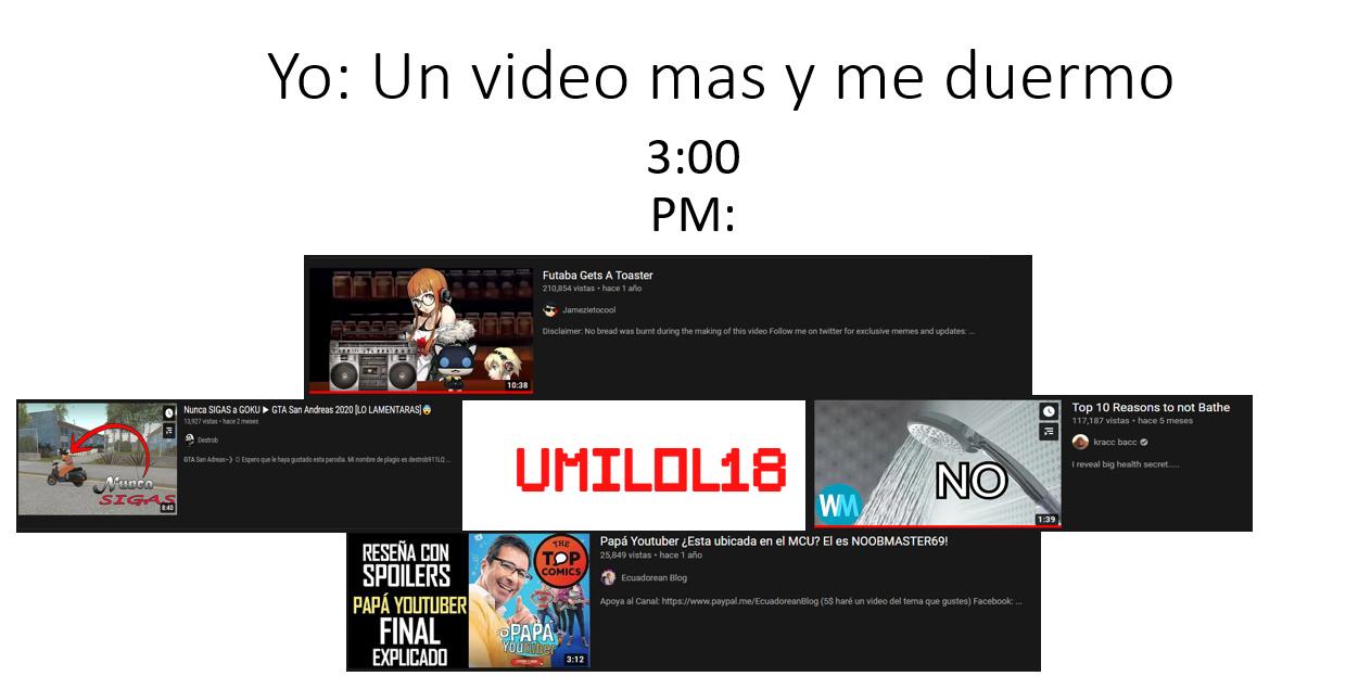 He visto todos esos videos excepto el de Goku (No importa) - meme