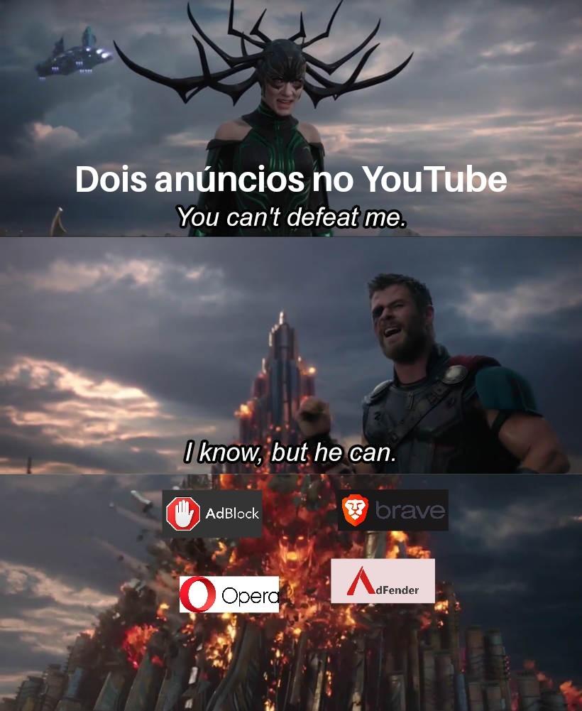Os quatros cavaleiros do fim do anúncio - meme