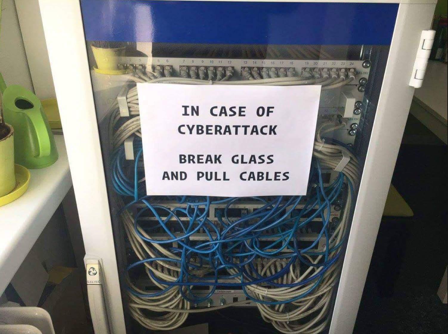 Cyber attack defense - meme