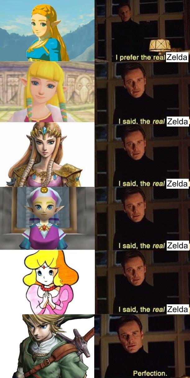 the real Zelda - meme