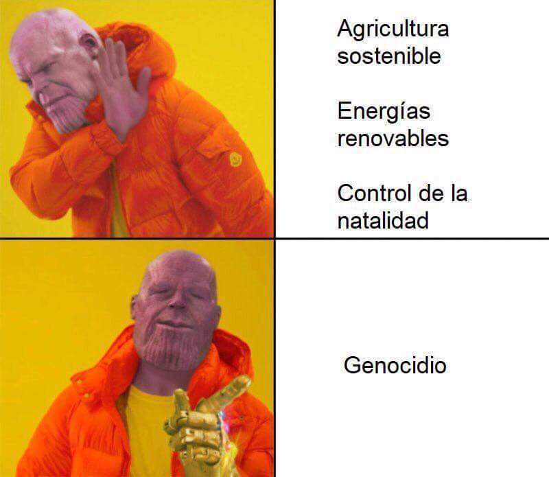 Jajajaja este Thanos - meme