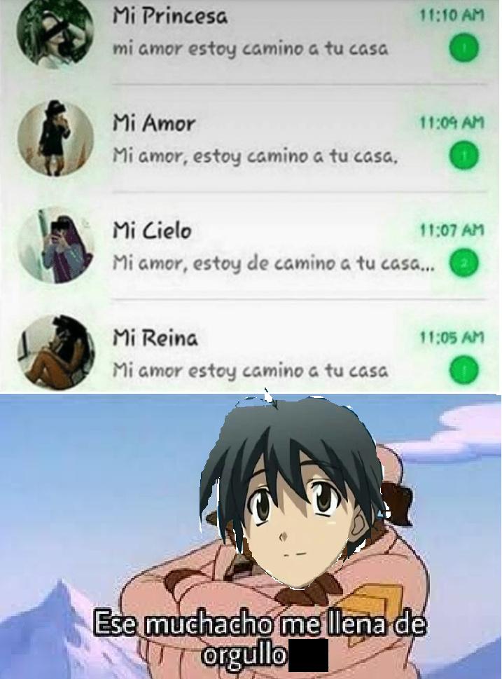 El mismo screenshit de siempre con una plantilla diferente. Referencia al gran dios Makoto Itou de School Days - meme
