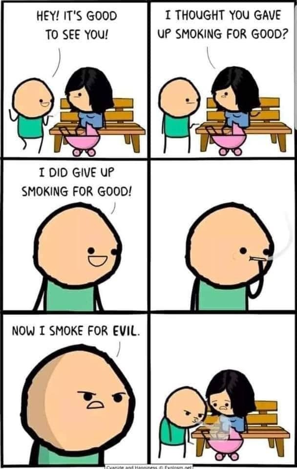 Smoking issues - meme