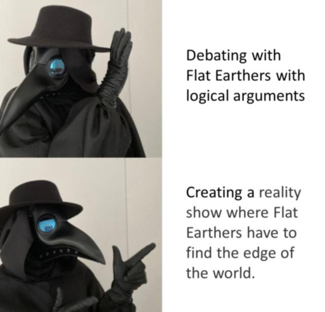 Supid flat earthers - meme