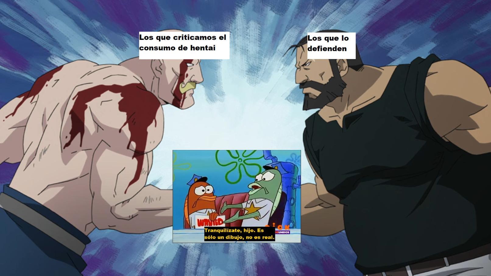 CONTEXTO: Ambos bandos utilizan el meme para dejar al otro como un loco que reacciona de manera inusual ante un simple dibujo. En nuestro caso es el cringe y en el suyo la excitación sexual