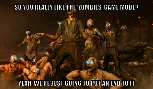 They better make Zombies in future CoD games - meme