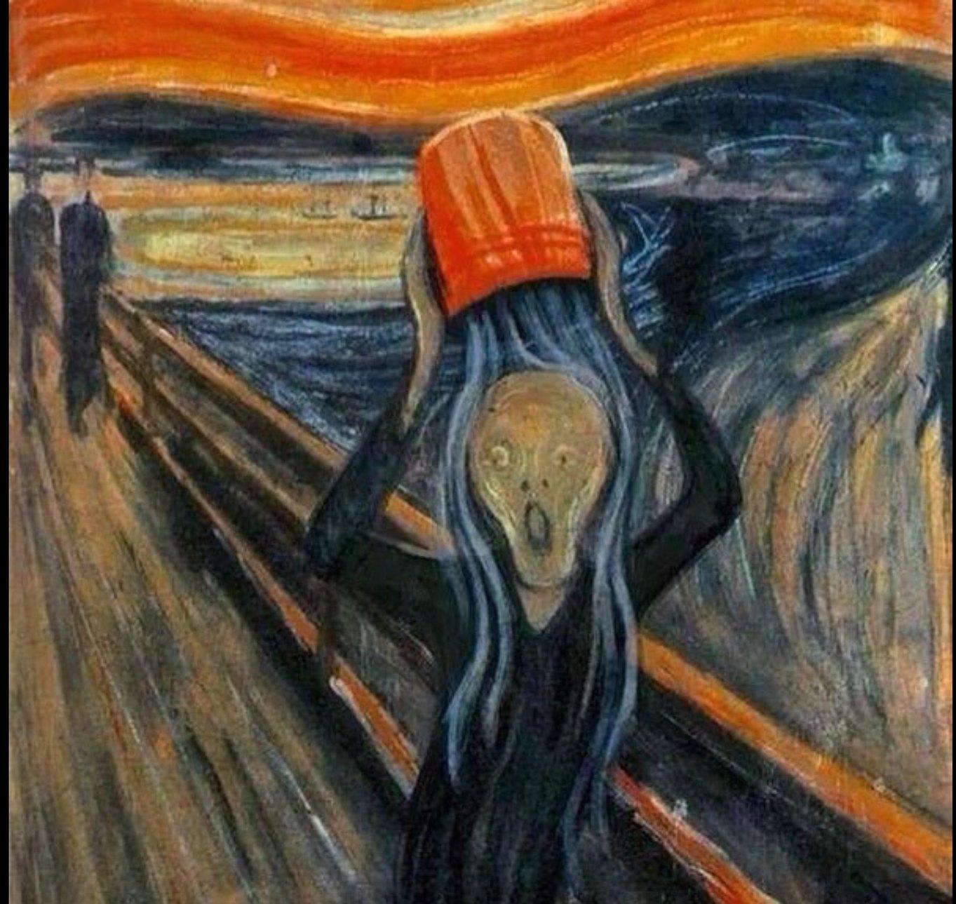 Edvard Munch lo hizo hace años...... - meme