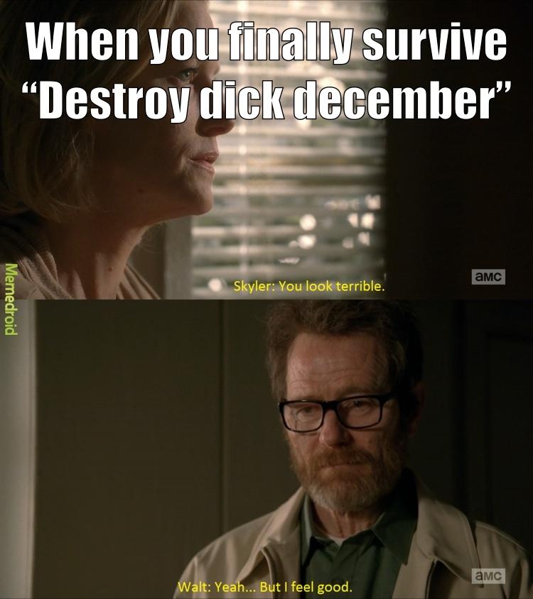 destroy dick december - meme