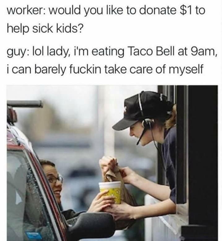 Shit nigga I'm broke! - meme