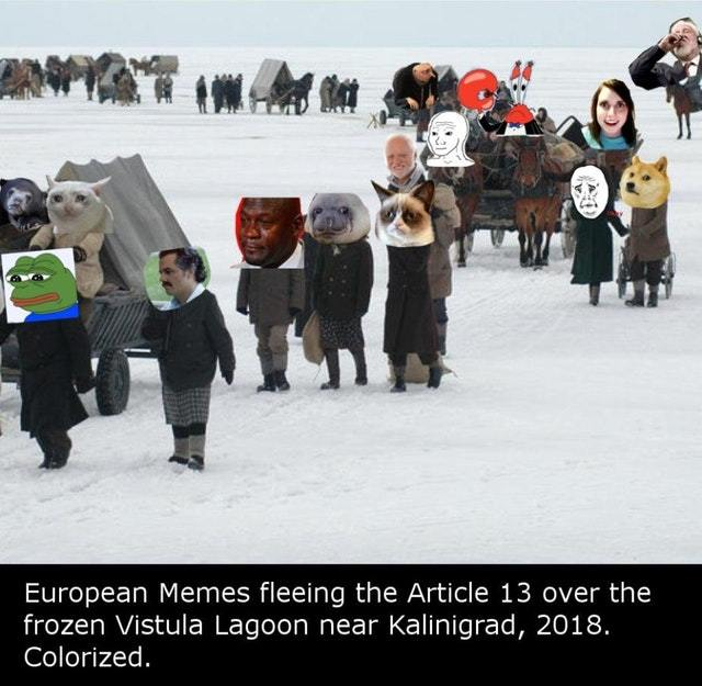 Memes leaving Europe