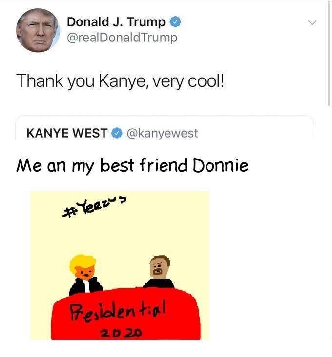Trump/West 2020 - meme