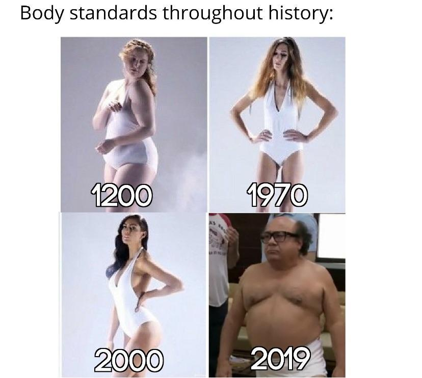 Yet another unrealistic body standard - meme