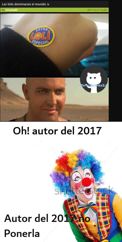 oh! autor del 2017 SIMP - meme