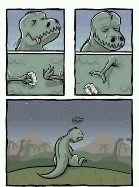 pobre dino :c - meme