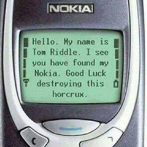 Horcrux: Nokia 3310 - meme