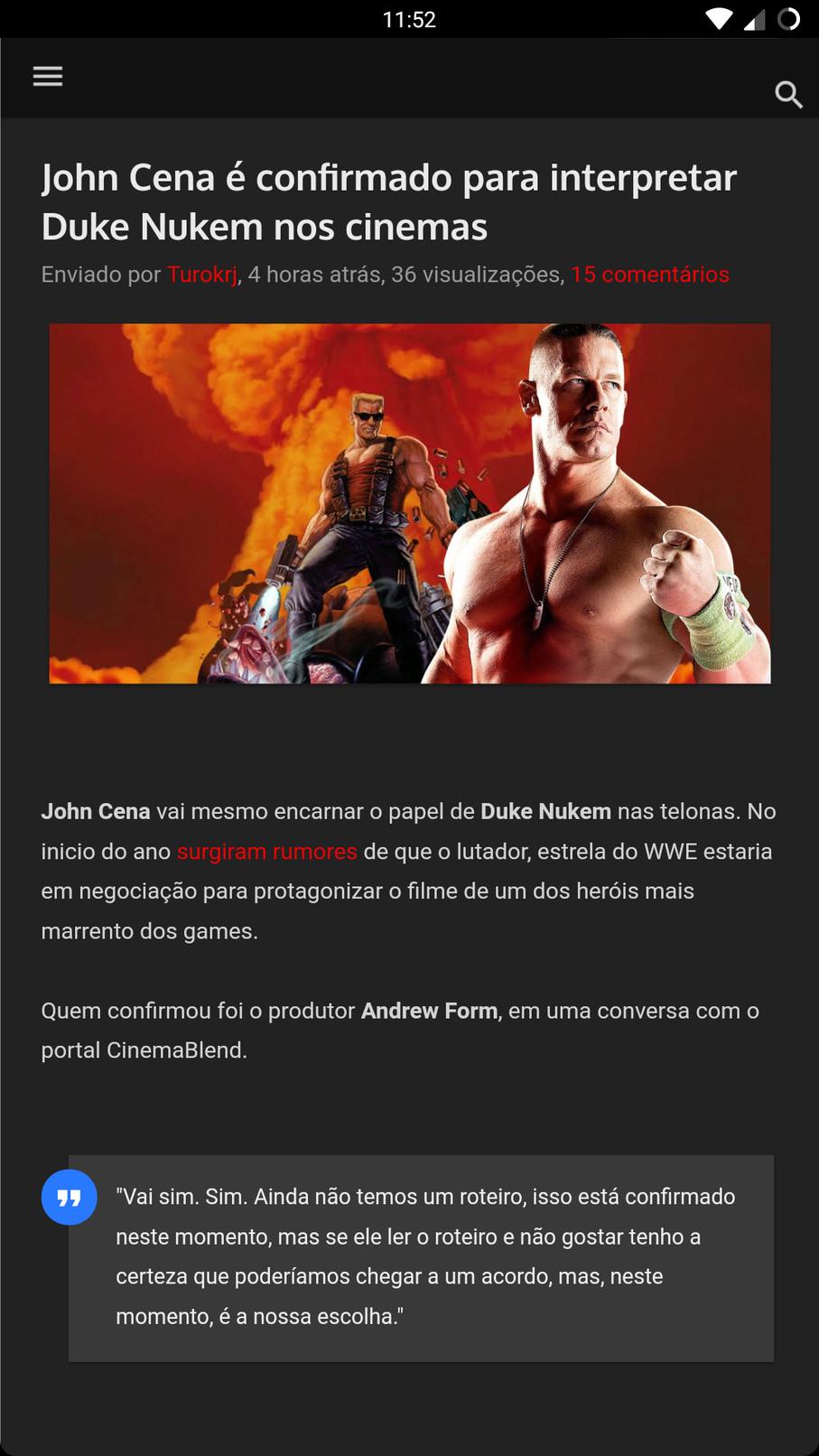 It's name is JOHN CENAAAAA, tatarataaaa tatarataaaaaaaa - meme