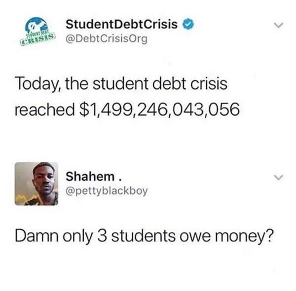 Student debt crisis - meme
