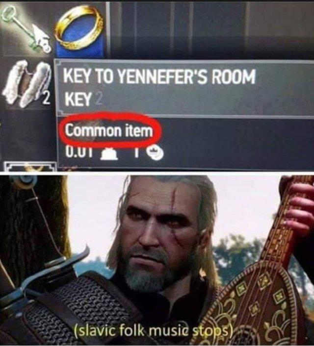 Key to Yennefer's room: common item - meme