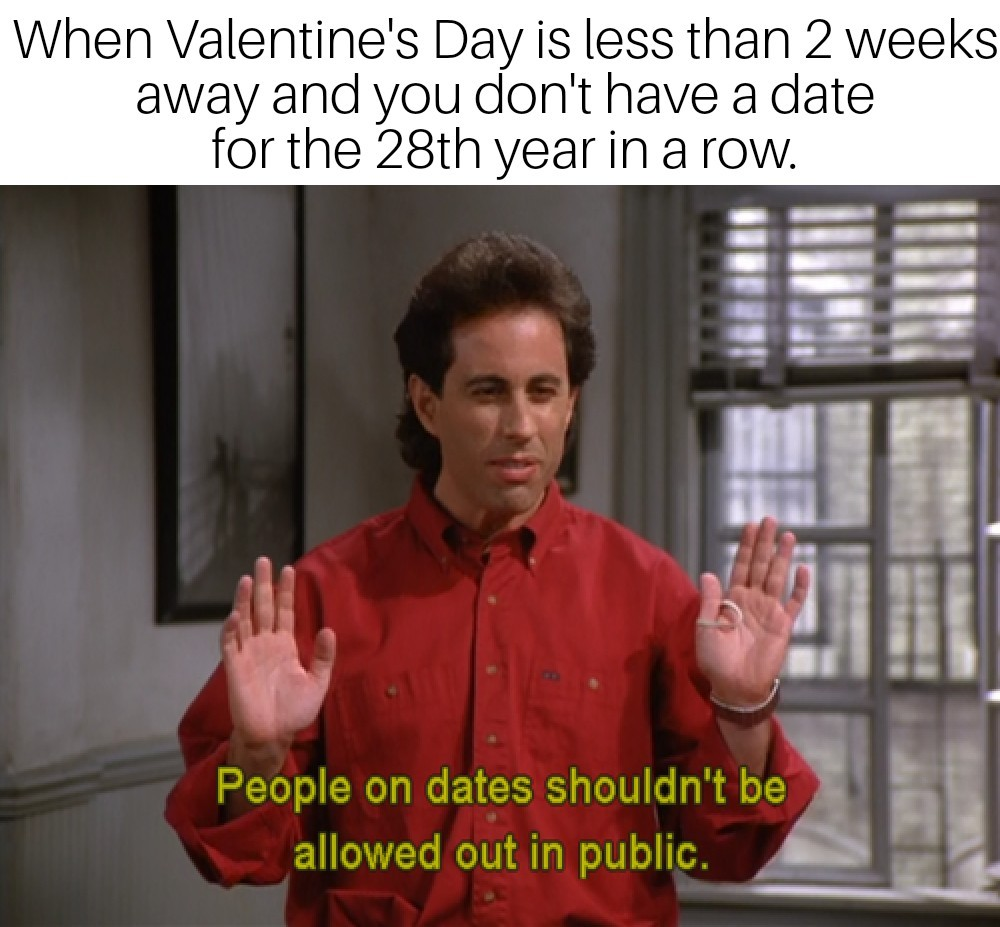 I hate Valentine's day - meme