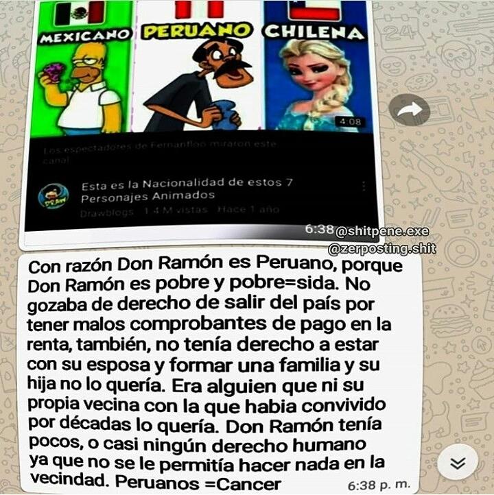 PERUANOS DE MIERDAAA - meme