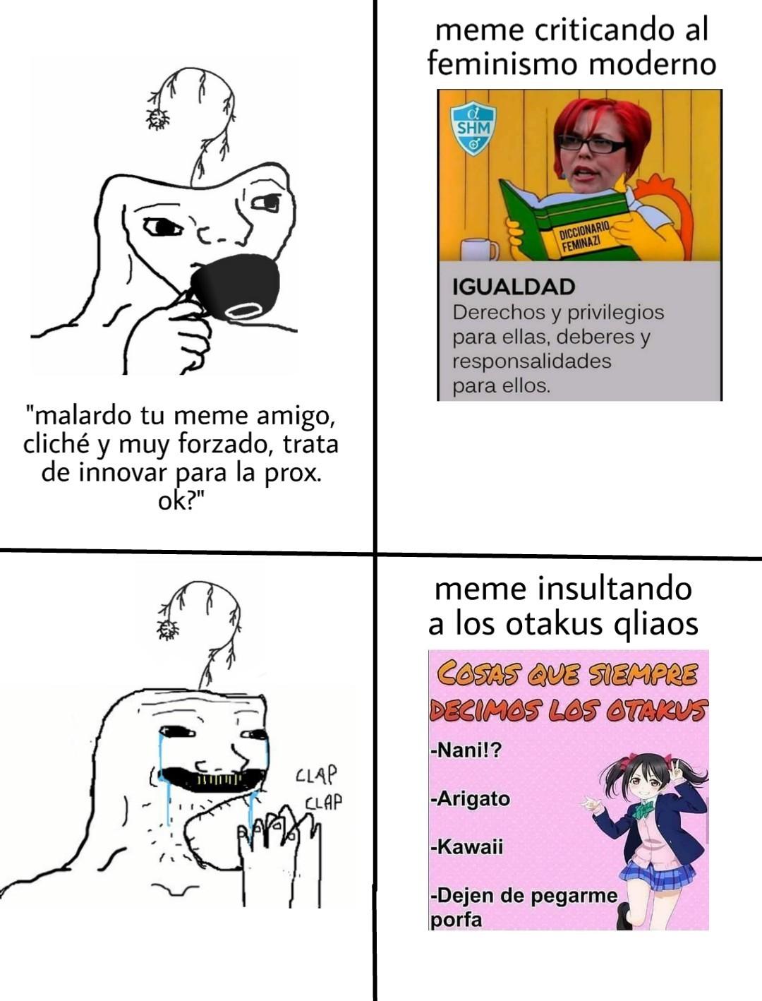 Meme insultando ≠ memardo