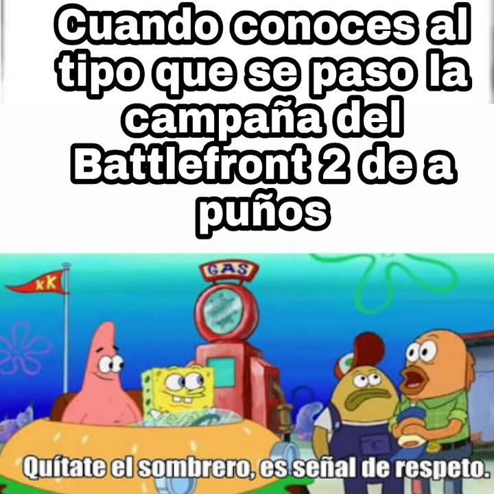 El título esta jugando al Battlefront 2 - meme